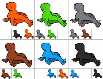 SEALS  Color Match Clip It {A Beginning Work Task)