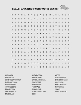 SEALS: WORD SEARCH