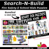 SEARCH-N-BUILD PUZZLES - FIRE SAFETY SCENES AND SCHOOL KID