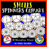 SEASHELL SPINNERS CLIPART FOR SUMMER/ END OF YEAR ACTIVITIES (BEACH THEME)