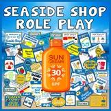 SEASIDE SHOP ROLE PLAY TEACHING RESOURCES EYFS KS1-KS2 SUN SAFETY BEACH