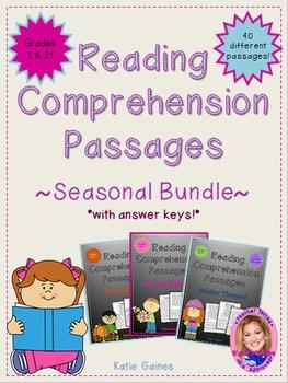 SEASONAL BUNDLE Reading Passages *JUST PRINT & TEACH!*