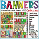 SEASONAL CELEBRATIONS: BANNERS BUNDLE