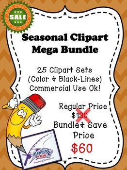 SEASONAL CLIPART MEGA BUNDLE (25 CLIPART SETS)