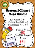 SEASONAL CLIPART MEGA BUNDLE (25 CLIPART SETS)