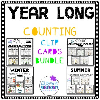 SEASONAL Counting Clip Cards YEAR LONG BUNDLE