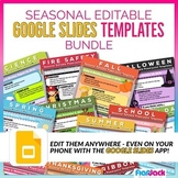 SEASONAL Editable Morning Work GOOGLE SLIDES Templates Bundle