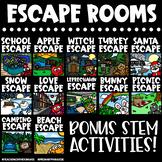 Escape Rooms Holiday BUNDLE | Halloween Escape Room & MORE!