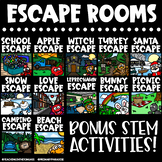 Escape Rooms Holiday BUNDLE | Halloween Escape Room & MORE!