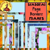 SEASONAL FRAMES PAGE BORDERS 4 Seasons Flowers, Snow, Ocean