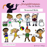 SEASONAL KIDS CLIP ART