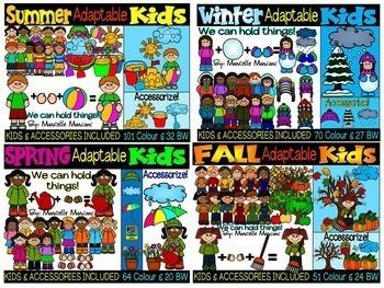 SEASONAL  KIDS CLIP ART BUNDLE- 399 IMAGES- COMMERCIAL USE