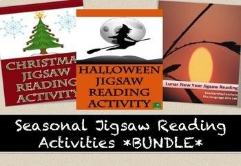 SEASONAL JIGSAW READING ACTIVITY BUNDLE