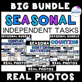 SEASONAL Real Photo Independent Tasks (matching, sorting,