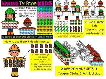 SEASONAL TEN FRAME KIDS CLIP ART BUNDLE- 544 IMAGES- COMMERCIAL USE