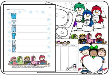 SEASONAL-TIVITIES WINTER IssueNo.2 Printables, Crafts, Ideas for Winter