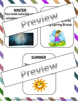 SEASONAL Writing Prompts for Primary Students