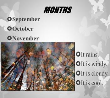 Seasons - Months - Days - Fall - Winter - Spring - Summer - PowerPoint