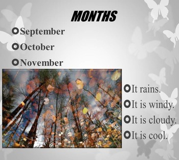 Seasons Months Days Summer PowerPoint  end of the year distance learning