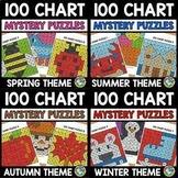 WINTER ACTIVITY KINDERGARTEN, 1ST GRADE (SEASON 100 CHART MYSTERY PICTURE PUZZLE