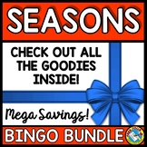 SEASONS BINGO BUNDLE (WINTER ACTIVITIES KINDERGARTEN, FIRS