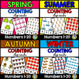 SEASON COUNTING CENTERS 1-20 (SPRING, SUMMER, WINTER, FALL ACTIVITY KINDERGARTEN