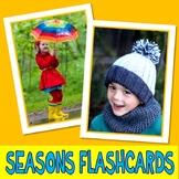 SEASONS PHOTO FLASHCARDS weather autism aba speech therapy pecs activity
