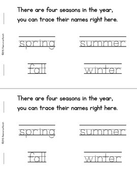 SEASONS Rhyming Reader FREE