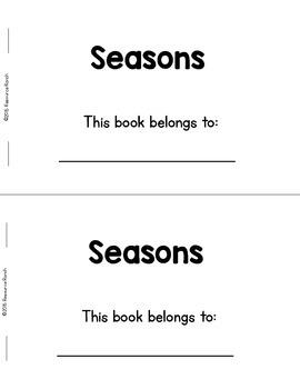 SEASONS Rhyming Reader FREE