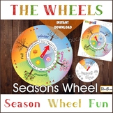 SEASONS WHEEL CALENDAR, Season Circle game, Season Spinner