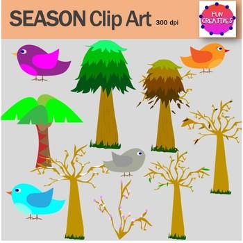 SEASONS clip art-Fun Creatives