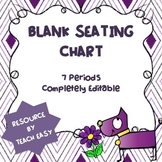 SEATING CHART WITH ATTENDANCE & BEHAVIOR LOG - FULLY EDITABLE