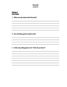 SEAWALL: Comprehension questions and answers