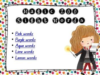 "SECOND 100 ""MAGIC"" Sight Words - Warm Up Slideshow"
