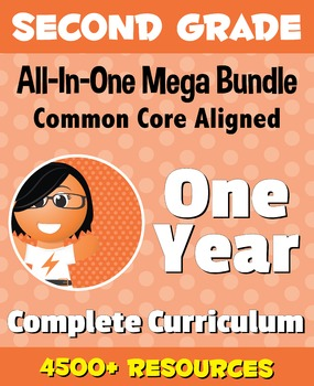 SECOND GRADE All-In-One *MEGA BUNDLE* {1 Year Complete Curriculum & CC Aligned}