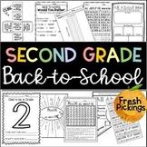 SECOND GRADE Back to School Activities