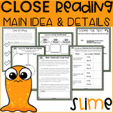 2nd GRADE Close Reading Passages and Questions | Slime