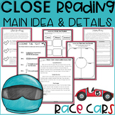 2nd GRADE Close Reading Passages and Questions | Race Cars