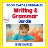 BOOM CARDS 2nd Grade Digital Task Cards GRAMMAR & WRITING BUNDLE + Printables
