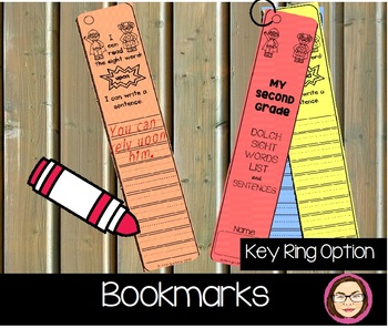 SECOND GRADE DOLCH SIGHT WORDS WORKSHEETS/MINI BOOKS AND BOOKMARKS
