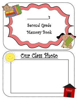 SECOND GRADE MEMORIES YEARBOOK AUTOGRAPH BOOK ~12 PAGE BOOKLET~ END OF YEAR PDF