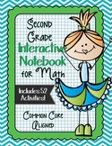 SECOND GRADE Math Interactive Notebook Bundle- Activities for Young Math Minds