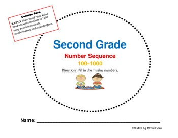 SECOND GRADE NUMBER SEQUENCE