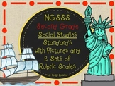 SECOND GRADE SOCIAL STUDIES GOALS WITH 2 SETS OF RUBRICS AND GRAPHICS