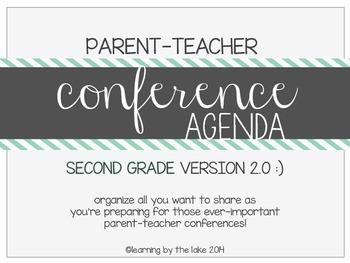 SECOND GRADE parent-teacher conference agenda (option #2!) :)