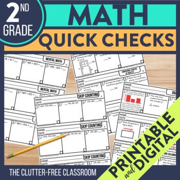 SECOND Grade TEACHER CHECKLIST for Common Core Math Standards 2nd grade