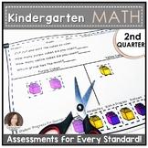 SECOND QUARTER Common Core Math Assessments for Kindergarten