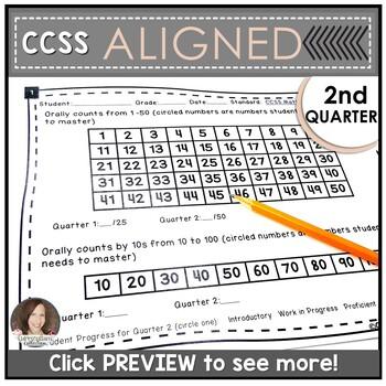 Kindergarten Math Assessments for SECOND QUARTER