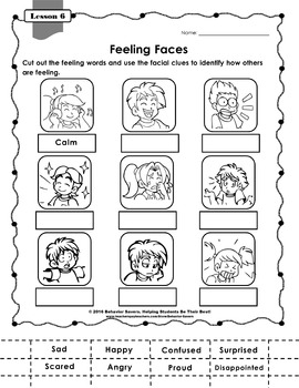 SECOND STEP 1st Grade-21 Lesson Worksheets