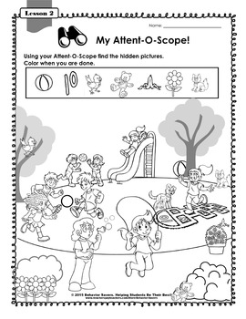 SECOND STEP KINDERGARTEN-24 Lesson Worksheets